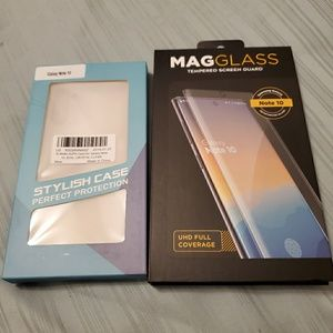 🆕 Note 10 Bundle Clear Case & Tempered Glass